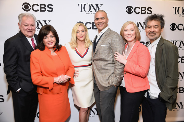 2017 Tony Awards Nominations Announcement [red,event,premiere,award,businessperson,white-collar worker,tourism,smile,flooring,business,robert e. wankel,christopher jackson,chairman,jane krakowski,president,tony awards,l-r,american theatre wing,the broadway league,nominations announcement]