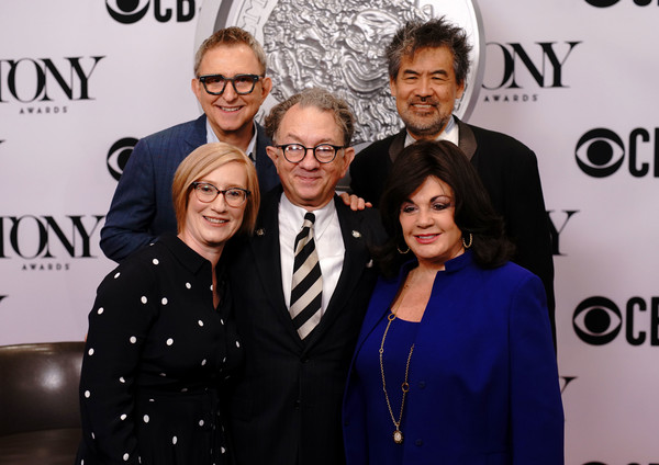 The 73rd Annual Tony Awards Meet The Nominees Press Day [eyewear,event,fashion,premiere,vision care,glasses,style,performance,nominees,heather hitchens,thomas schumacher,david henry hwang,president,william ivey long,new york city,broadway league,american theatre wing,annual tony awards]