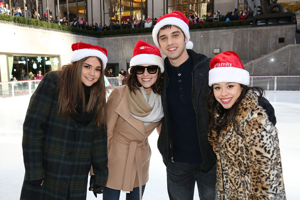 "ABC's ""25 Days Of Christmas"" Celebration [25 days of christmas,people,beanie,knit cap,headgear,winter,event,fun,christmas,recreation,cap,actors,maia mitchell,cierra ramirez,david lambert,italia ricci,rockerfellar center,new york city,abc,celebration]"