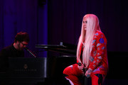 Kesha and Ben Folds perform on stage during the National Night Of Laughter And Song event hosted by David Lynch Foundation at the John F. Kennedy Center for the Performing Arts on June 5, 2017 in Washington, DC.
