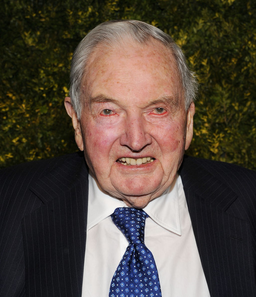 David Rockefeller David Rockefeller attends the Green Auction: A Bid To Save The Earth at Christie's on March 29, 2011 in New York City.