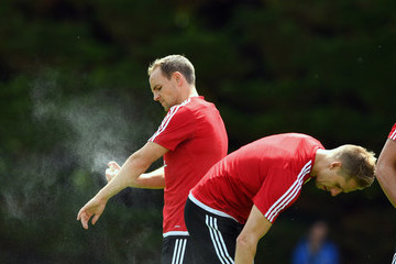 David Vaughan Wales Training Session and Press Conference