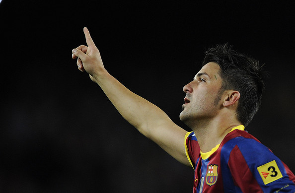 David Villa David Villa of Barcelona celebrates after scoring during the La Liga match between Barcelona and Sevilla FC on October 30, 2010 in Barcelona, Spain.