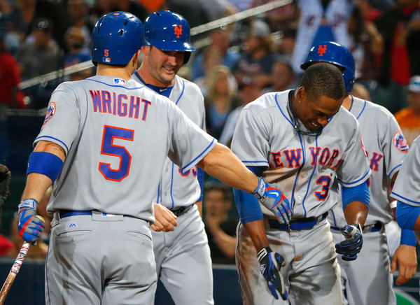 David+Wright+Travis+Arnaud+New+York+Mets