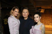 (L-R) Marie von den Benken, Dawid Tomaszewski and Frankie Miles at the Dawid Tomaszewski show during Berlin Fashion Week Autumn/Winter 2020 at Prince Charles on January 15, 2020 in Berlin, Germany.