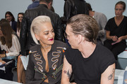 Rita Ora and Jamie Campbell Bower attend the Hunter Original show during London Fashion Week Spring Summer 2015 at  on September 13, 2014 in London, England.