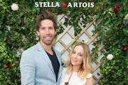 Stella Artois hosts (L-R) James Cannon and Joanne Froggatt at The Championships, Wimbledon as the Official Beer of the tournament at Wimbledon on July 3, 2018 in London, England.