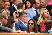 Lord Sebastian Coe is seen in the Royal Box on centre court during Day six of The Championships - Wimbledon 2019 at All England Lawn Tennis and Croquet Club on July 06, 2019 in London, England.