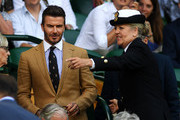 Former football player David Beckham attends the Royal Box during Day Ten of The Championships - Wimbledon 2019 at All England Lawn Tennis and Croquet Club on July 11, 2019 in London, England.
