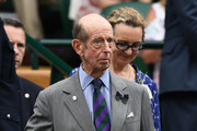 Prince Edward, Duke of Kent attends day twelve of the Wimbledon Lawn Tennis Championships at All England Lawn Tennis and Croquet Club on July 14, 2018 in London, England.