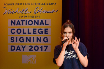 Daya MTV's 2017 College Signing Day with Michelle Obama - Inside