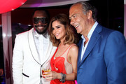 (L to R) will.i.am, Cheryl Cole and Fawaz Gruosi attend the de Grisogono Party at the Hotel Du Cap on May 18, 2010 in Cap D'Antibes, France.
