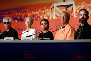 "(L-R) Jim Jarmusch, Tilda Swinton, Selena Gomez, Bill Murray and Carter Logan attend the press conference for ""The Dead Don't Die"" during the 72nd annual Cannes Film Festival on May 15, 2019 in Cannes, France."