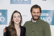 Ann Skelly and Jamie Dornan attend a photocall for 'Death and Nightingales' at Soho Hotel on November 26, 2018 in London, England.