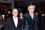 Producer Francois Margolin and writer Bernard-Henri Levy attend the 'Death in Sarajevo' (Smrt u Sarajevu - Mort a Sarajevo) premiere during the 66th Berlinale International Film Festival Berlin at Berlinale Palace on February 15, 2016 in Berlin, Germany.