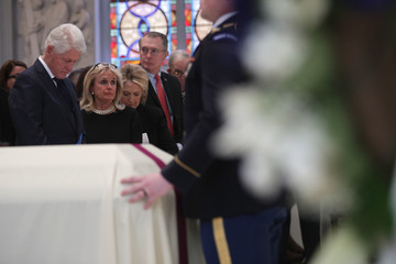 Debbie Dingell Funeral Mass Held For Rep. John Dingell At D.C.'s Holy Trinity Catholic Church