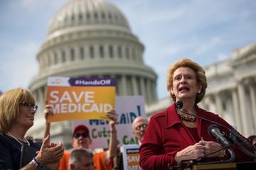 Debbie Stabenow Senate Democrats Hold News Conference Denouncing Graham-Cassidy Bill