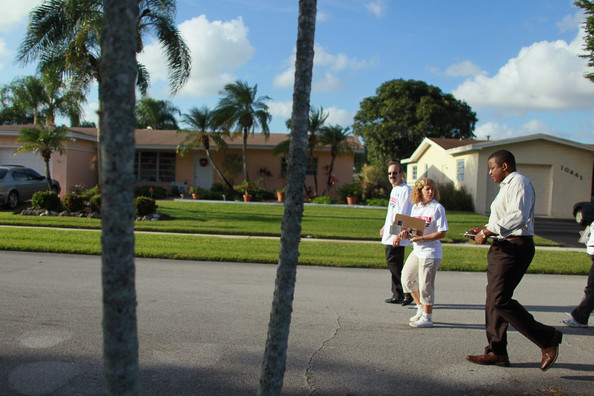 Debbie Wasserman Schultz Joins Kendrick Meek For Canvassing In South Florida