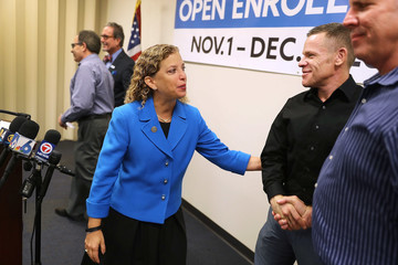 Debbie Wasserman Schultz Democratic Rep. Debbie Wasserman Schultz Holds Open Enrollment Event For The Affordable Care Act