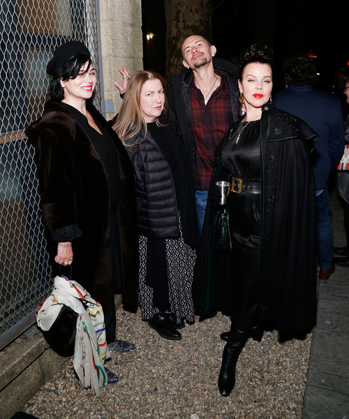 """BAM's Opening Night Party For """"Medea"""" [fashion,costume,event,outerwear,fur,gothic fashion,medea,debi mazar,gabriele corcos,karen duffy,l-r,public records,new york city,bam,opening night party,party,debi mazar,gabriele corcos,goodfellas,photography,photograph,image,entourage,getty images,stock photography]"""