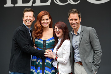 Debra Messing Eric McCormack 'Will & Grace' Ribbon Cutting Ceremony