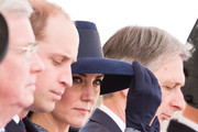 (L-R) Prince William, Duke of Cambridge, Catherine, Duchess of Cambridge and Philip Hammond during the dedication service of The Iraq and Afghanistan memorial at Horse Guards Parade on March 9, 2017 in London, England.
