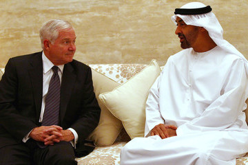Mohammed bin Zayed bin Sultan Al Nahyan Defense Secretary Robert Gates Travels To Persian Gulf Region