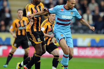 Dele Adebola Hull City v West Ham United - npower Championship