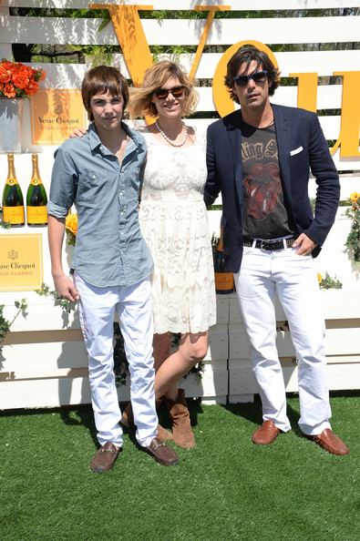 The Seventh Annual Veuve Clicquot Polo Classic - Red Carpet Arrivals [yellow,fashion,footwear,event,fun,jeans,outerwear,fashion design,recreation,denim,red carpet arrivals,nacho figueras,hilario figueras,delfina blaquier,jersey city city,liberty state park,veuve clicquot polo classic,seventh]