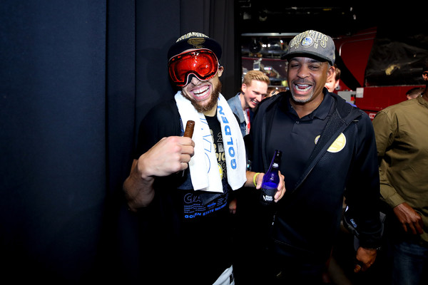 2018 NBA Finals - Game Four [photograph,personal protective equipment,fun,event,helmet,fashion accessory,stephen curry,dell curry,user,user,game four,note,nba,golden state warriors,finals]