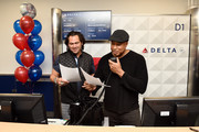 Boarding announcements as Johnny Damon, Bernie Williams, and Delta, the official airline of the New York Yankees, celebrate the 2019 Yankees at LaGuardia Airport on October 18, 2019 in New York City.