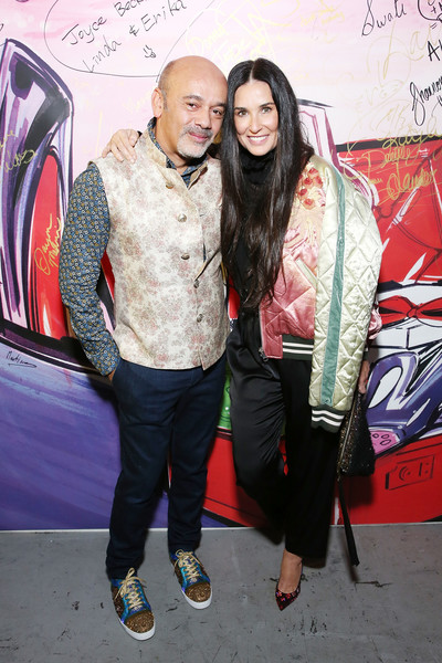Christian Louboutin and Sabyasachi Unveil Capsule Collection at Just One Eye [fashion,fun,outerwear,event,leisure,street fashion,black hair,jacket,art,christian louboutin,demi moore,just one eye,california,los angeles,sabyasachi unveil capsule collection]