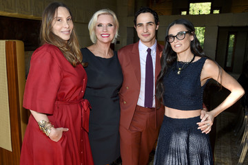 Demi Moore M.A.C Cosmetics with Zac Posen Luncheon at the Ennis House