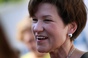 Democratic gubernatorial candidate Alex Sink talks to supporters during a Women's Early Vote Rally at the Miami Beach city hall October 29, 2010 in Miami Beach, Florida. Sink is facing off against Republican challenger Rick Scott for the Florida governor's seat.