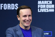 U.S. Sen. Chris Murphy (D-CT) waves at the end of the 2020 Gun Safety Forum hosted by gun control activist groups Giffords and March for Our Lives at Enclave on October 2, 2019 in Las Vegas, Nevada. Nine Democratic candidates for president took part in the forum to address gun violence one day after the second anniversary of the massacre at the Route 91 Harvest country music festival in Las Vegas when a gunman killed 58 people in the deadliest mass shooting in recent U.S. history.