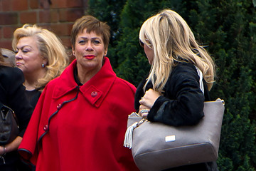 Denise Welch Funeral OF Entertainer and Producer David Gest