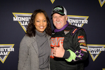 Dennis Anderson Monster Jam Celebrity Night at Angel Stadium Anaheim