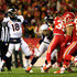 Peyton Manning #18 of the Denver Broncos passes against the Kansas City Chiefs during the first quarter at Arrowhead Stadium on November 30, 2014 in Kansas City, Missouri.