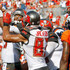 Vincent Jackson Photos - Jameis Winston #3 of the Tampa Bay Buccaneers celebrates with teammate Vincent Jackson #83 after Winston scored a touchdown in the first quarter against the Denver Broncos at Raymond James Stadium on October 2, 2016 in Tampa, Florida. - Denver Broncos v Tampa Bay Buccaneers