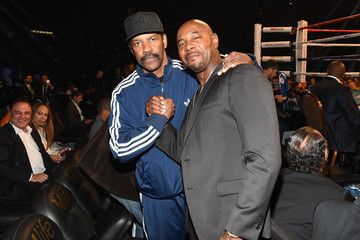 Denzel Washington Ringside At 'Mayweather VS Pacquiao'