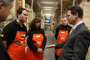 Paul Griffin Deputy Prime Minister Nick Clegg And Energy Secretary Chris Huhne Make An Announcement On Green Apprenticeships At B&Q Sutton
