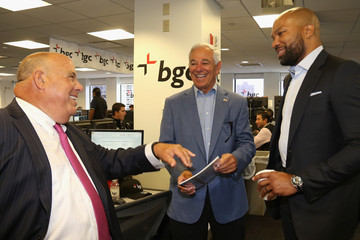 Derek Fisher Annual Charity Day Hosted By Cantor Fitzgerald and BGC - BGC Office - Inside