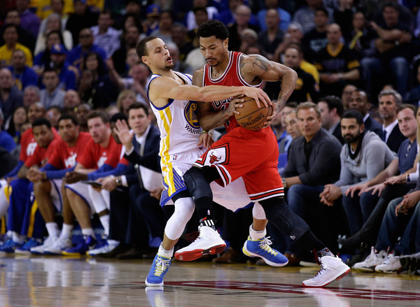 b4781b879c85 Derrick Rose and Stephen Curry Photos»Photostream · Pictures · Chicago  Bulls v Golden State Warriors