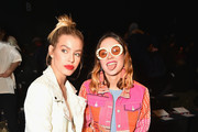 Jessica Goicoechea (L) and Miranda Makaroff attend the Desigual fashion show during New York Fashion Week at Gallery 1, Skylight at Clarkson Sq on February 9, 2017 in New York City.