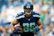 Jimmy Graham #88 of the Seattle Seahawks warms up prior to the game against the Detroit Lions at CenturyLink Field on October 5, 2015 in Seattle, Washington.