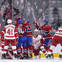 Tomas Tatar Photos - Tomas Tatar #90 of the Montreal Canadiens celebrates his first period goal with teammates against the Detroit Red Wings during the NHL game at the Bell Centre on October 15, 2018 in Montreal, Quebec, Canada. - Detroit Red Wings vs. Montreal Canadiens