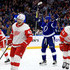 Steven Stamkos Photos - Steven Stamkos #91 of the Tampa Bay Lightning celebrates his first goal of the season during a game against the Detroit Red Wings at Amalie Arena on October 18, 2018 in Tampa, Florida. - Steven Stamkos Photos - 10 of 1433