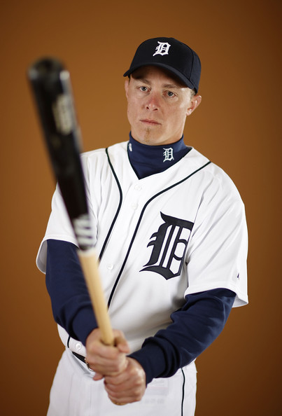 Brandon Inge #15 of the Detroit Tigers poses during photo day at the Detroit Tigers Spring Training facility on February 27, 2010 in Lakeland, Florida.