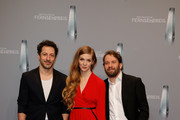 Fahri Yardim, Pheline Roggan and Christian Ulmen attend the German Television Award (Der Deutsche Fernsehpreis 2018) at Palladium on January 26, 2018 in Cologne, Germany.