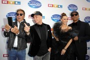 """Jurors Dieter Bohlen, Pietro Lombardi, Oana Nechiti and Xavier Naidoo attend the season 16 finals of the tv competition show """"Deutschland sucht den Superstar"""" (DSDS) at Coloneum on April 27, 2019 in Cologne, Germany."""